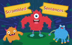 Scrambled Sentences puzzle solver game