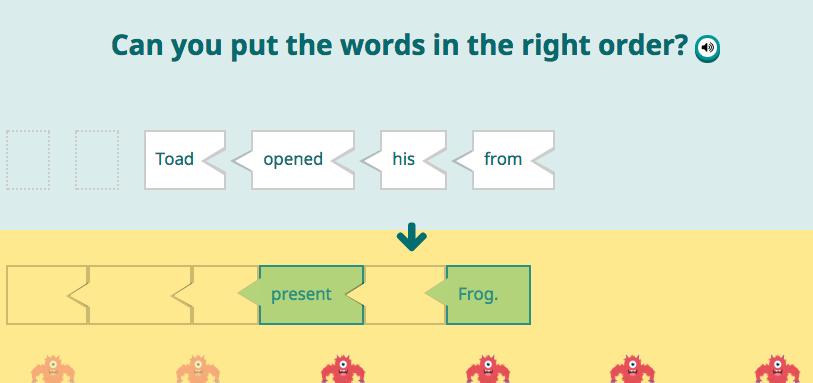 Scrambled Sentences Game Play