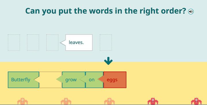 Scrambled Sentences Academic Language Game